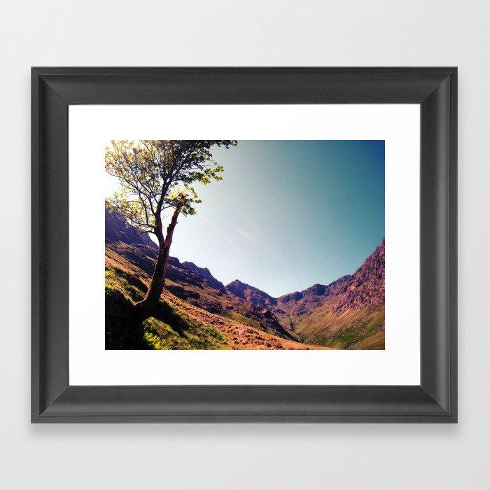 tree side. Framed Art Print