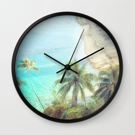 Dreamy Palm Beach Landscape Wall Clock