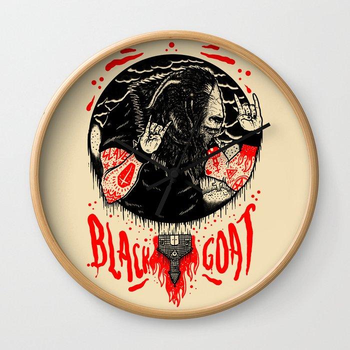 Black Goat Wall Clock