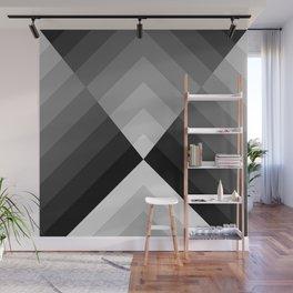 Black & White Geometry Wall Mural