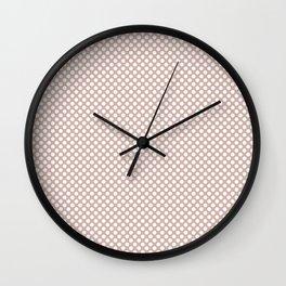 Rose Smoke and White Polka Dots Wall Clock