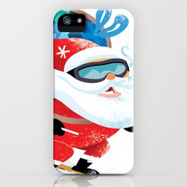 Santa Skiing 1 iPhone Case