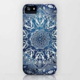 Indigo Nouveau Shibori Mandala iPhone Case