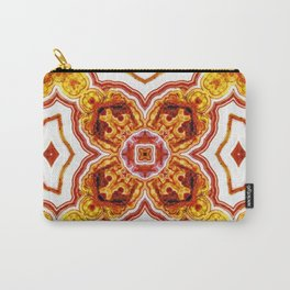 India Print Three Carry-All Pouch