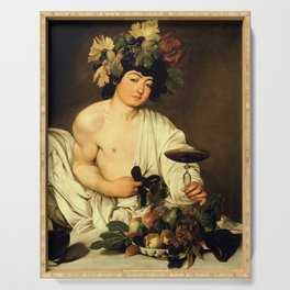 Merisi da Caravaggio - Bacchus Serving Tray