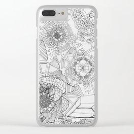 Adult Coloringbook Template Mandalas 1 Clear iPhone Case