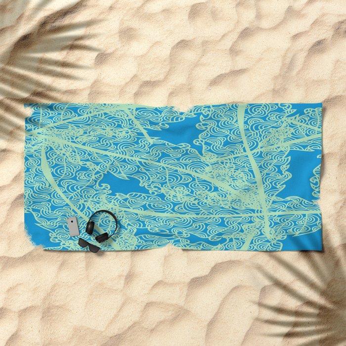 Welcome To The Sea Jungle Beach Towel