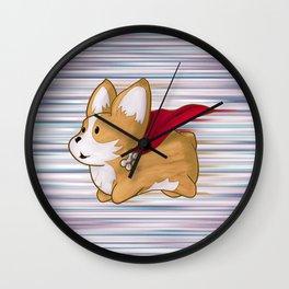 Super Corgi Wall Clock