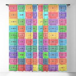Neon Cassettes Sheer Curtain