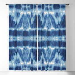 Tie Dye Blues Twos Blackout Curtain