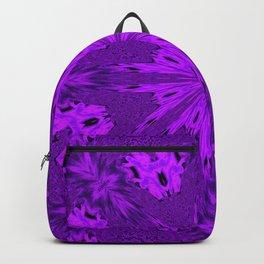 Peacock Double Kaleidoscope Purple Backpack