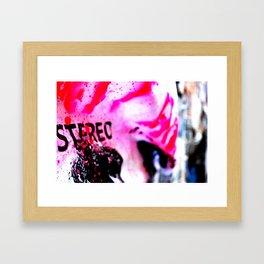 Pink poster Framed Art Print
