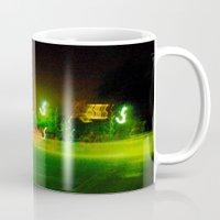 austin Mugs featuring Austin Lights by Robert McHugh