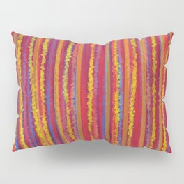 Stripes  - Cheerful yellow orange red and blue Pillow Sham