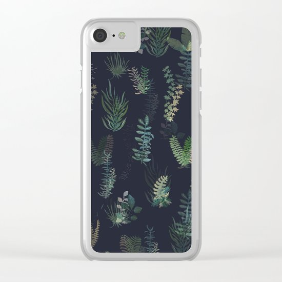 green garden at nigth mirror!!! Clear iPhone Case