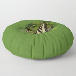 Western Tiger Swallowtail in the Garden Floor Pillow