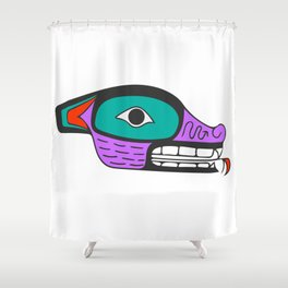 Nisga'a Wolf Shower Curtain