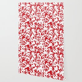 Spots - White and Fire Engine Red Wallpaper