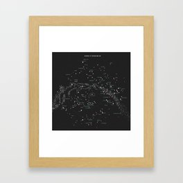Norra Stjärnhimlen Framed Art Print