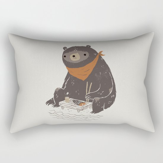 sushi bear Rectangular Pillow