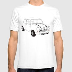 The Italian Job Red Mini Cooper Mens Fitted Tee White SMALL