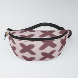 Pink and Red Xs Fanny Pack