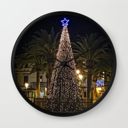 Holiday Tree Ciudadela Wall Clock