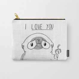 PUG Mochi - I love you Carry-All Pouch