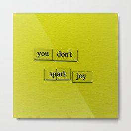 Spark Joy Metal Print