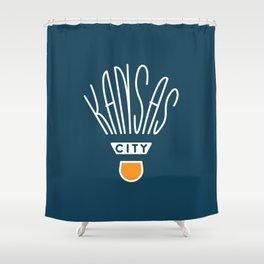 Kansas City Shuttlecock Type - White Shower Curtain