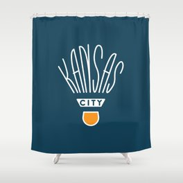 Kansas City Shuttlecock Type - White Shower Curtain
