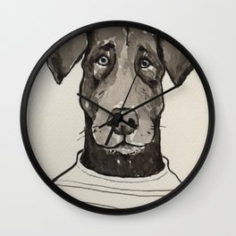 Larry the Labrador Wall Clock