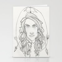 allison argent Stationery Cards featuring Allison by Wolfhearted