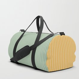Color Block Lines XIII Yellow & Green Duffle Bag