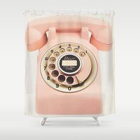 telephone Shower Curtains featuring Kate Spade - Telephone by Katieb1013
