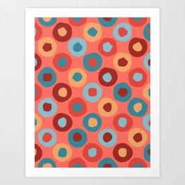 Cheerful Circle Pattern Art Print