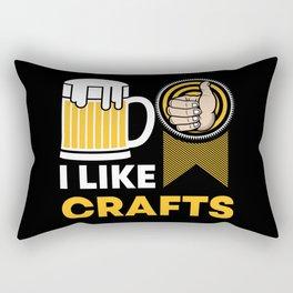 Craft Beer Lover Gift 'I Like Crafts' I Hop I Malt I Lager Rectangular Pillow