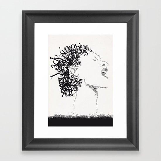 Jazz Typography Framed Art Print