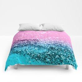 Tropical Beach Lady Glitter #1 #shiny #decor #art #society6 Comforters