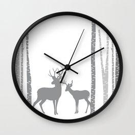 Lonely Deer No. 3 Wall Clock