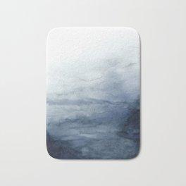 Indigo Abstract Painting | No.2 Bath Mat