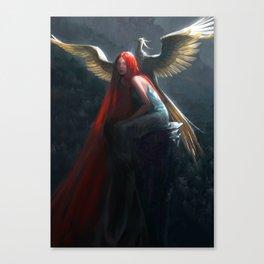 Red Falls Canvas Print