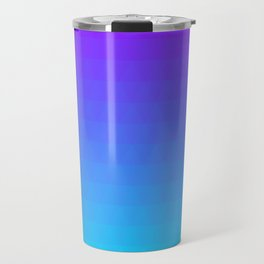 Blue and Purple Ombre - Flipped Travel Mug