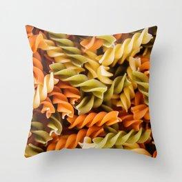 Pasta Noodles Pattern (Color) Throw Pillow