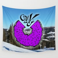 donut Wall Tapestries featuring Donut by Launchpad Creations
