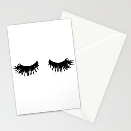 Eyelash Print Stationery Cards