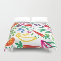 health Duvet Covers featuring Picture of Health by ColorisBrave