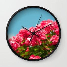 Rose Shrub Wall Clock