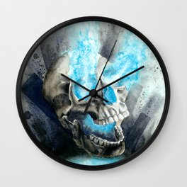 Energy Skull Wall Clock