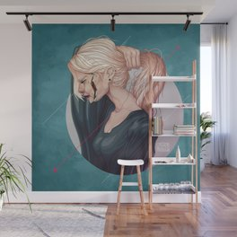 Woman profile portrait Wall Mural